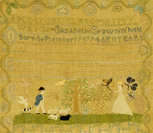 Needlework Sampler by Elizabeth Crowninshield