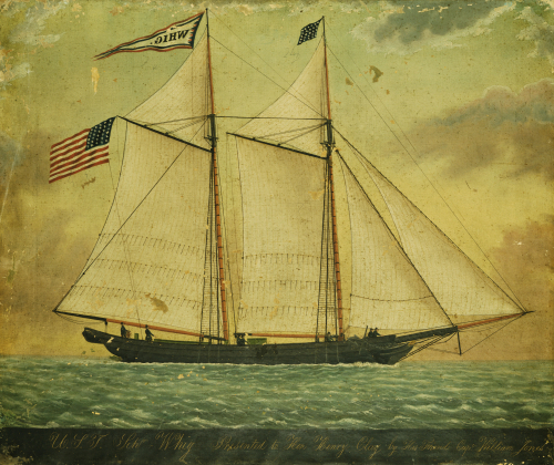 The Schooner Whig by American School
