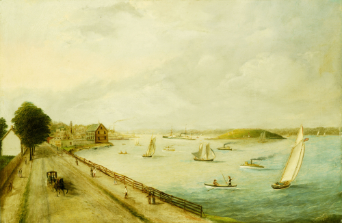 New York Harbor, 1890 by American School