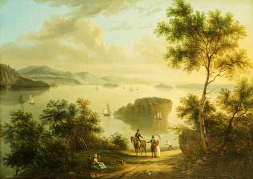 The Hudson River by American School