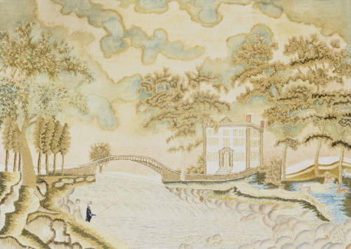 Watercolor And Silk Needlework Pictorial by Christie's Images