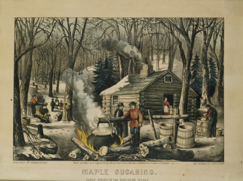 Maple Sugaring - Early Spring In The Northern Woods by Christie's Images