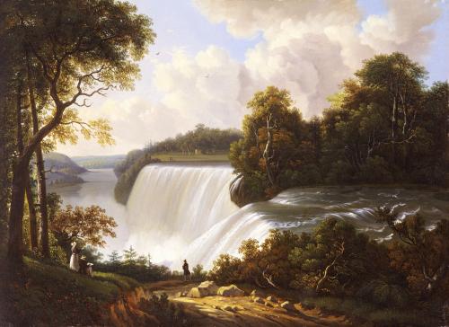 Niagara Falls Scene by Victor DeGrailly