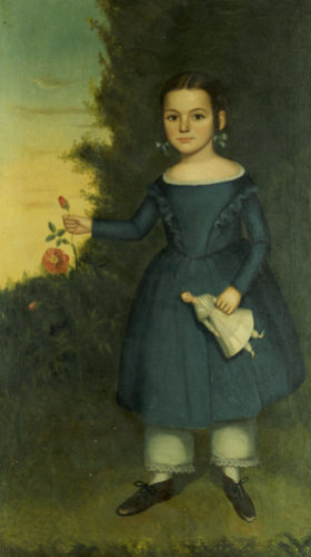 Portrait Of Miss Annis Griffen by Joseph Goodhue Chandler