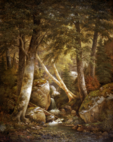 Wooded Interior by Henry Chapman Ford