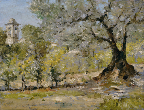 Olive Trees In Florence by William Merritt Chase