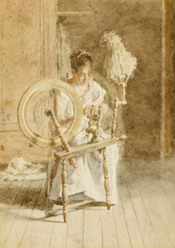 Spinning by Thomas Cowperthwait Eakins