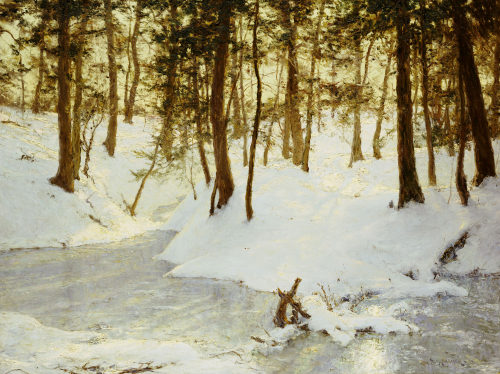 Ice In The Glen by Walter Launt Palmer