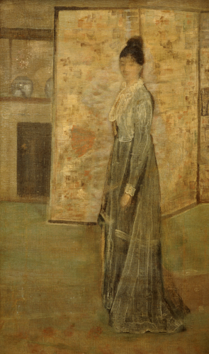 Arrangement In Flesh Color And Grey: The Chinese Screen by James McNeil Whistler