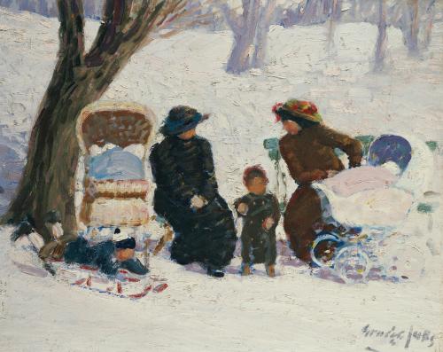 Nursemaids, High Bridge Park by George Luks