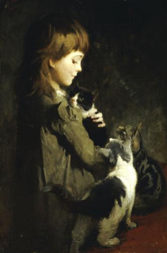 The Favorite Kitten by Abbott Thayer