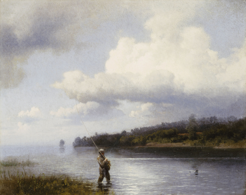 Fly Fishing by Hermann Herzog