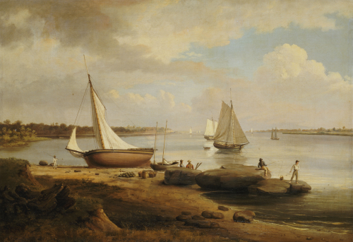 View On The Delaware by Thomas Birch