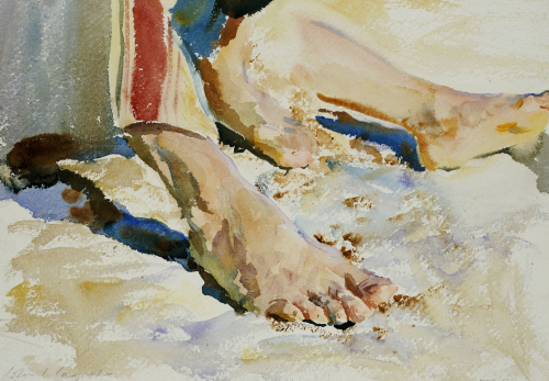 Feet Of An Arab, Tiberias by John Singer Sargent