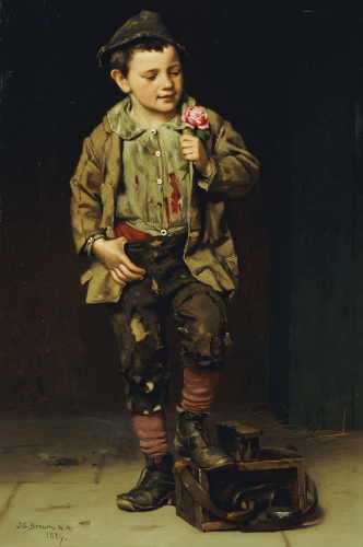 Shoeshine Boy (1831-1913), 1884 by John George Brown