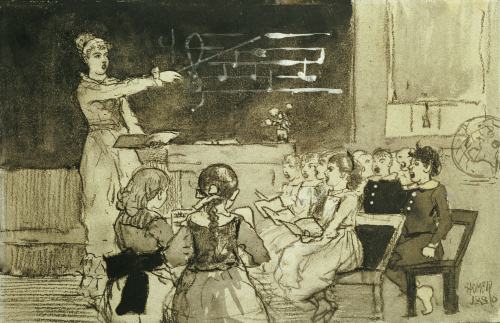 The Music Lesson by Winslow Homer