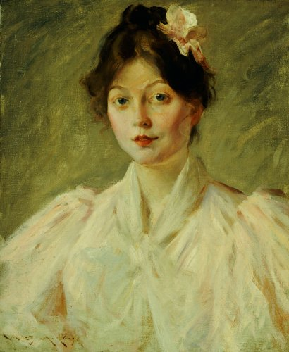 Young Woman In Pink by William Merritt Chase