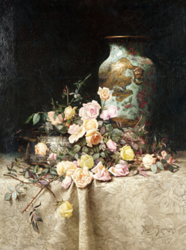Still Life With Roses, 1887 by Milne Ramsey