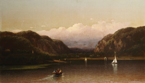 Highlands Of The Hudson - View Near West Point, 1872 by Lemuel Maynard Wiles