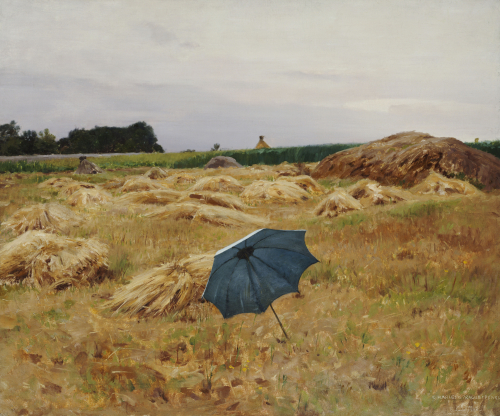 The Blue Umbrella, 1890 by Charles Sprague Pearce