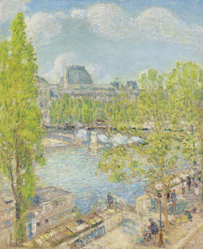 April, Quai Voltaire, Paris, 1897 by Frederick Childe Hassam