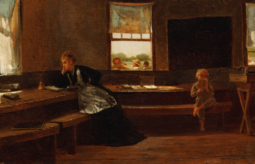 The Noon Recess, 1873. by Winslow Homer
