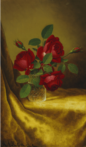 Roses In A Crystal Goblet by Martin Johnson Heade