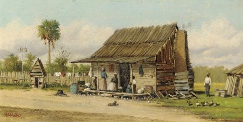 Cabin Scene by William Aiken Walker