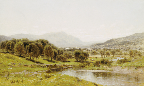 Monument Mountain From The Berkshire Meadows, C. 1875. by John Bunyan Bristol