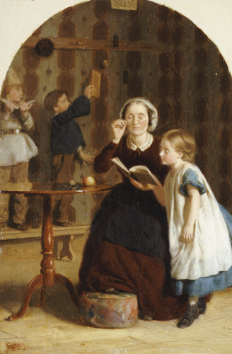 The Reading Lesson by Seymour Joseph Guy