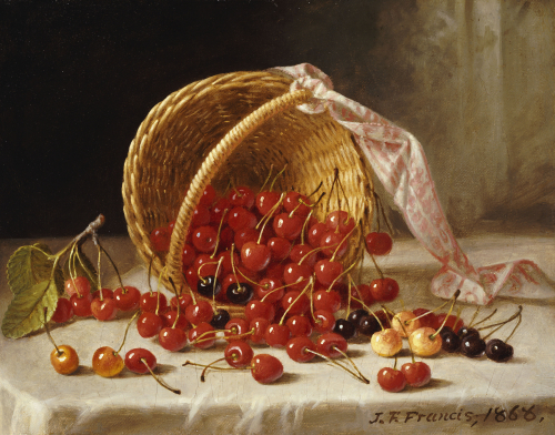 A Basket Of Cherries by John F. Francis
