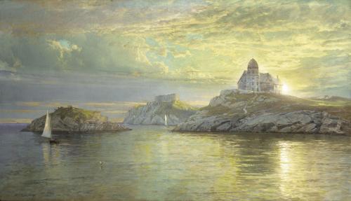 Harbor Entrance On Bull Point, Newport, Rhode Island, 1898 by William Trost Richards