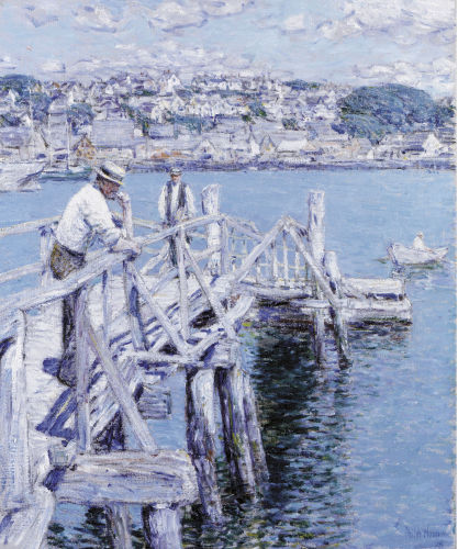 Dock Scene, Gloucester by Frederick Childe Hassam