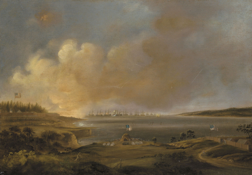 The Battle Of Fort Mchenry by Alfred Jacob Miller