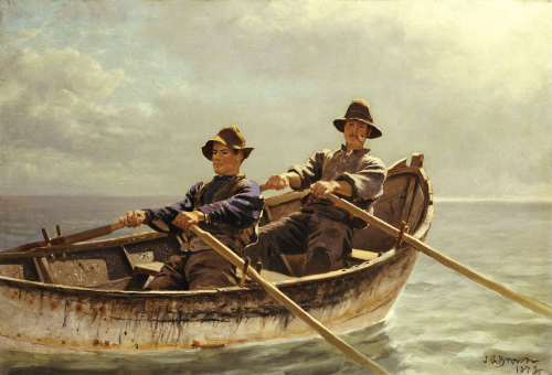 Heading Out, 1872 by John George Brown