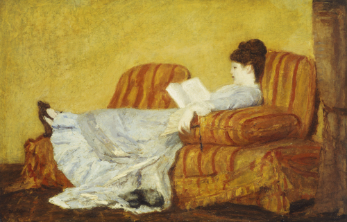 Young Lady Reading by Mary Cassatt