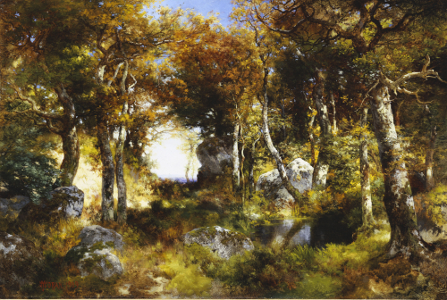 The Woodland Pool, 1909. by Thomas Moran