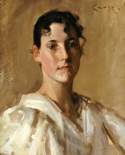 Portrait Of A Woman by William Merritt Chase