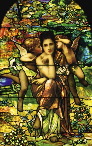 Bouguereau Window by Tiffany Studios