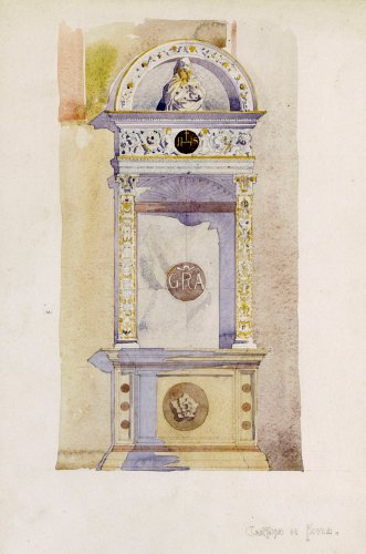 Certosa di Pavia, Study of a Jesuit Altar, 1891. by Charles Rennie Mackintosh