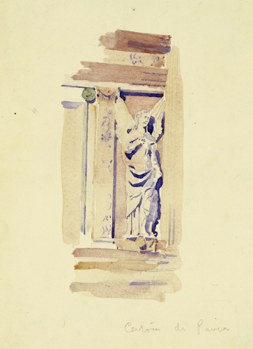 Certosa di Pavia, Study of an Angel Statue, 1891. by Charles Rennie Mackintosh