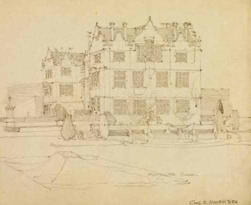 Somerset, Montacute House, 1895, 1895. by Charles Rennie Mackintosh