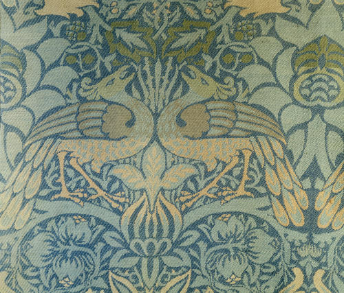 Detail Of A Pair Of Morris & Co Peacock And Dragon Woven Twill Curtains by Christie's Images