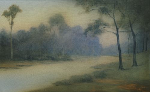 A River And Wooded Banks, 1917 by Christie's Images
