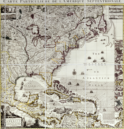 Map Of The British Empire In America With Settlements, C. 1734. by Christie's Images