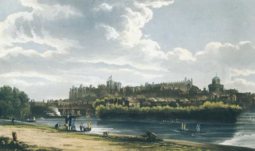 North Front Of Windsor Castle, 1819 by William Henry Pyne