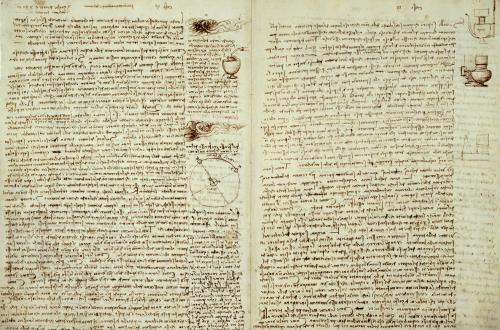 Codex Hammer Pages 124-127 by Leonardo da Vinci