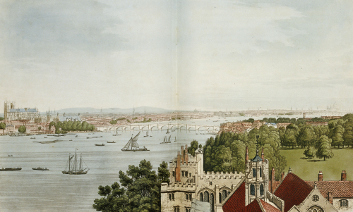 View Of London From Lambeth by Josiah Boydell
