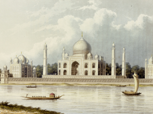 The Taj Mahal, Tomb Of The Emperor Shah Jehan And His Queen, C. 1824. by Charles Ramus Forrest