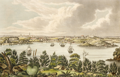 North View Of Sidney, New South Wales, 1824 by Joseph Lycett